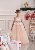 Girl ballroom dresses gowns - Elegant Princess Homecoming Dress Lush Fluffy Lace Appliques Ballroom Pink Tulle Organza Ball Gowns with Bow Beading