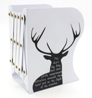 Wholesale Telescopic bookend frame medium size folding bookend Unique fashion creative available for student and office supplies
