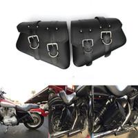 Wholesale 2pcs Motorcycle PU Leather Saddle Bag For Harley Sportster XL Hugger Sportster