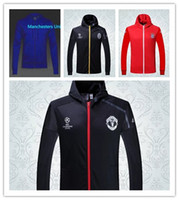 arsenal black - THAI milan Arsenals Manchesters Inter Chelseas training clothes jacket united long sleeved sports jacket men s