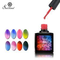 Wholesale Saviland Nail Gel Thermo Varnish Temperature Change Nail Mood Color UV Polish ml Gel For Nail Soak Off Gel Polish