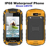 Wholesale New OINOM LMV7 IP67 Rugged Waterproof Phone MTK6572 Dual Core Android Gorilla Glass G GPS mAH PTT Shockproof Dustproof