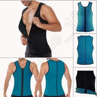 Wholesale Men s Body Shaper Gym Slimming Waist Training Corsets Weight Loss Workout Vest Exercise Sport Neoprene Tank Sauna Top Waist Trainer OOA946
