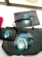Wholesale 2015 new arrival fashion handbag rottweiler dog prints leather bag given c women shoulder bags large