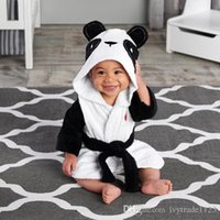Wholesale RMY29 NEW infant Kids flannel Pajamas Animals Styles long sleeve Hooded baby warm Bathing Clothing boy girls Nightgowns baby kids clothings