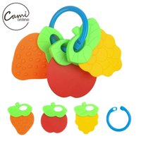 Wholesale New Baby Toys Kids Cute Fruit Animal Rattle Toddler Music Plastic Hand Jingle Shaking Bell Newborn Toys Infant Hand Bell Rattle