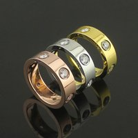 Cheap Three Stone Rings rose gold ring Best fashion lovers lover ring