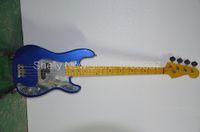 Venta al por mayor-Shelly Nueva fábrica de tienda personalizada 4 cuerdas steve Harris precisión brillo metálico guitarra eléctrica bajo instrumentos musicales tienda