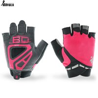 Wholesale Women sport running Gym Gloves Slip Resistant Lycra Leather Sports Body Building Exercise Training Yoga Fitness Glove A111503