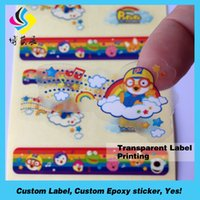 Wholesale High quality adhesive transparent PET PVC PE PP label sticker embossed vinyl sticker printing