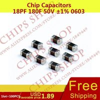 Wholesale Chip Capacitors pF F V nF Package0603 Metric SMD