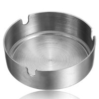 Wholesale Newest Hot Sale Brief Stainless Steel Ashtray Diameter cm Metal Ashtray Home Kitchen Dinner Bar