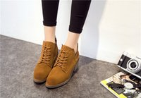 Wholesale 2016 new winter boots leather boots female Mugen brush color fashion boot shoes manufacturers