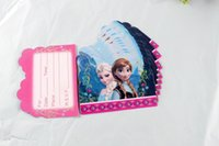 Wholesale Elsa and Anna Snow Queen Fever Invitation Cards Birthday Party Decorations Party Supplies Birthday Party Decorations Kids