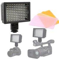 Livraison gratuite HD-126 LED photo photo lumière lampe d'éclairage pour caméscope DV caméras numériques SLR