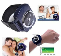 Wholesale Smart Black Snore Stopper Snoring Biosensor Infrared Detects Wristband Watch Anti Snoring Sleeping Aid Device black
