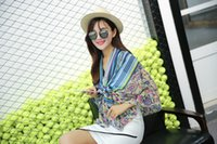air conditioning factory - Factory direct selling New winter cashew folk style Striped Scarf Shawl scarves new air conditioning Epacket