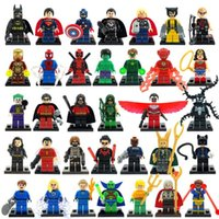 achat en gros de lego marvels-Great Price 34pcs / set Marvel DC Super Heroes minifigures Avengers Iron Super Man Batman Ensembles de blocs de construction Modèle Brick Toys