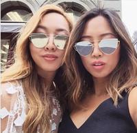 beam mix - N38 New Women Luxury Flat Top Cat Eye Sunglasses Women Twin Beam Sunglasses Double Deck Alloy Frame UV400
