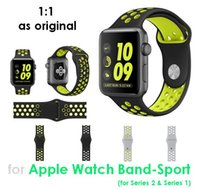 apples rubber watch - 1 Silicone Sport Band For Apple Watch Hole Sport Band Replacement Breathable Soft Rubber Wrist Strap With Holes Black Volt Gray Silver