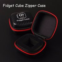 best toy box - Best Portable Fidget cube zipper case Storage PU Box for Fidget Case Decompression Toy Stress Relief Reduce Pressure Family Adults Gift
