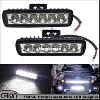 al por mayor 12v llevó los proyectores de la motocicleta-2Pcs luz de funcionamiento diurna del punto 4V de la motocicleta de la barra 12V 24V de la pulgada 18W LED de las luces corrientes del coche