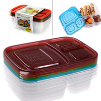 Wholesale Easy Lunch Box Pack Color Meal Prep Compartment Portion Control Plastic Food Container Microwava DHL JU004