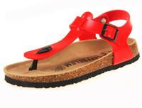Wholesale Women T strap Flip Flop Beach Wedges Sandals women flip flops clogs sandalias women cork slippers valentine slides shoes