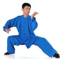 Wholesale breathable unisex Taijiquan martial arts performance clothing cotton plus silk