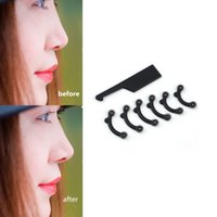 Wholesale 6PCS Set Size Beauty Nose Up Lifting Bridge Shaper Massage Tool No Pain Nose Shaping Clip Clipper Women Girl Massager