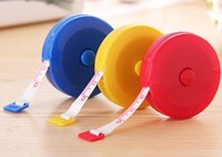Wholesale Plastic tape measure Home tool clothing size Soft feet Automatic retractable mix color