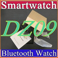 Wholesale 12X DHL freeshipping DZ09 smart watch Sync Call push Message for IOS Android smart A1 GT08 phonecan record the sleep state Smartwatch B BS