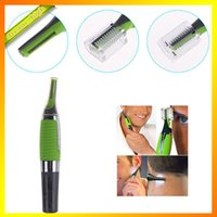 Wholesale Micro Trimmer Remover Touch Max Personal Ear Nose Neck Eyebrow Hair Trimmer Remover Brand new Green