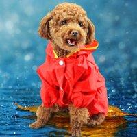 Ropa para mascotas Ropa del perro del peluche ropa de perro Primavera y verano ropa para mascotas Ropa para perros Poncho de lluvia Tome su sombrero Ropa impermeable Pet Supplies