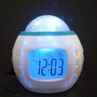 asia radio - Fashion LED Projection Alarm Clock star light alarm clock colorful creative alarm clock natural sound factory direct
