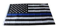 Wholesale Fedex DHL Free Blue Line USA Flags By Foot Thin Red Line US Flag Black White And Blue American Flag With Brass Grommets style
