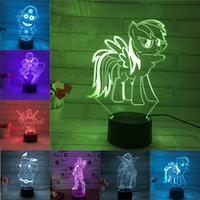 Wholesale 2017 NEW D Lamp USB Power Colors Amazing Optical Illusion D Grow LED Lamp Children Bedroom Night Light