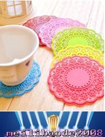 Wholesale New Arrivals Coaster Heat Resistant Pads Cup Mats Silicone Hollow Out Retro Diameter cm MYY