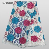 Wholesale NEW African french guipure lace fabric for nigerian party dresses Nice water soluble mesh embroidery lace fabric A612PL06