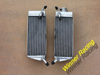 alloy honda motorcycles - L R aluminum alloy radiator For Honda CR R stroke water box motorcycle replacement parts engine cooling parts