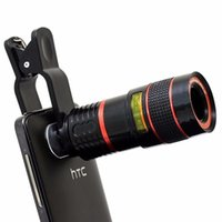 Wholesale High Quality x Zoom Mobile Phone Telescope Clip Lens for iPhone s Plus Cell Phone Universal Camera Lens for Samsung LG
