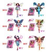 Wholesale Fashion Winx Club Rainbow Butterfly Doll Accessories Combs and Mirrors Figures Jointed Dolls Toys For Children BabyGirls Toys jouet fille