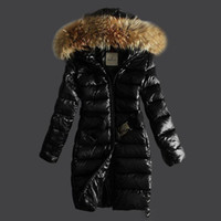 belted down coat with hood - Newest mo er female parka jackets with belt slim midi long white duck down coats real raccoon fur collar hood parkas