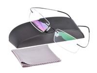 achat en gros de hommes cerclées rectangle lunettes unisexes-Lunettes de titane unisexe sans rim hommes femmes non-vis 9g bêta lunettes de titane pur cadre photo lunettes de lunettes optique 1050
