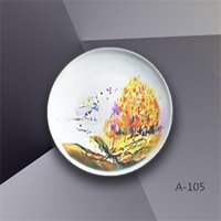 Wholesale Original hand painted and European style bone china plates and one piece drop shipping Yellow mix with black