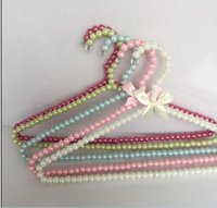 Wholesale Sainwin cm Adult Plastic Hanger Pearl Hangers For Clothes Pegs Princess Clothespins Wedding Dress Hanger Color