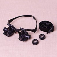 antique lamp repair - Wearing glasses goggles type double LED lamp with a magnifier antique jewelry watch repair convertible lens