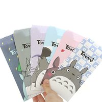 Venta al por mayor-5 PC / embalaje lindo de Totoro de dibujos animados de sobres carta de papel carta de papel de almacenamiento de papel de regalo