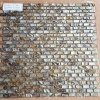 Wholesale Mother of Pearl River Shell Mosaic Tile Dyed Black Brick Backsplash
