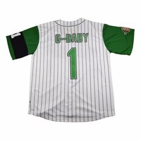Wholesale TIM VAN STEENBERGE Jarius G Baby Evans Kekambas Baseball Jersey Includes Patch Stitched Sewn Green size small S xl